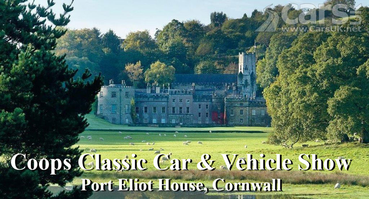 Photo Coops Classic Car and Vehicle Show at the stunning Port Eliot House in Cornwall