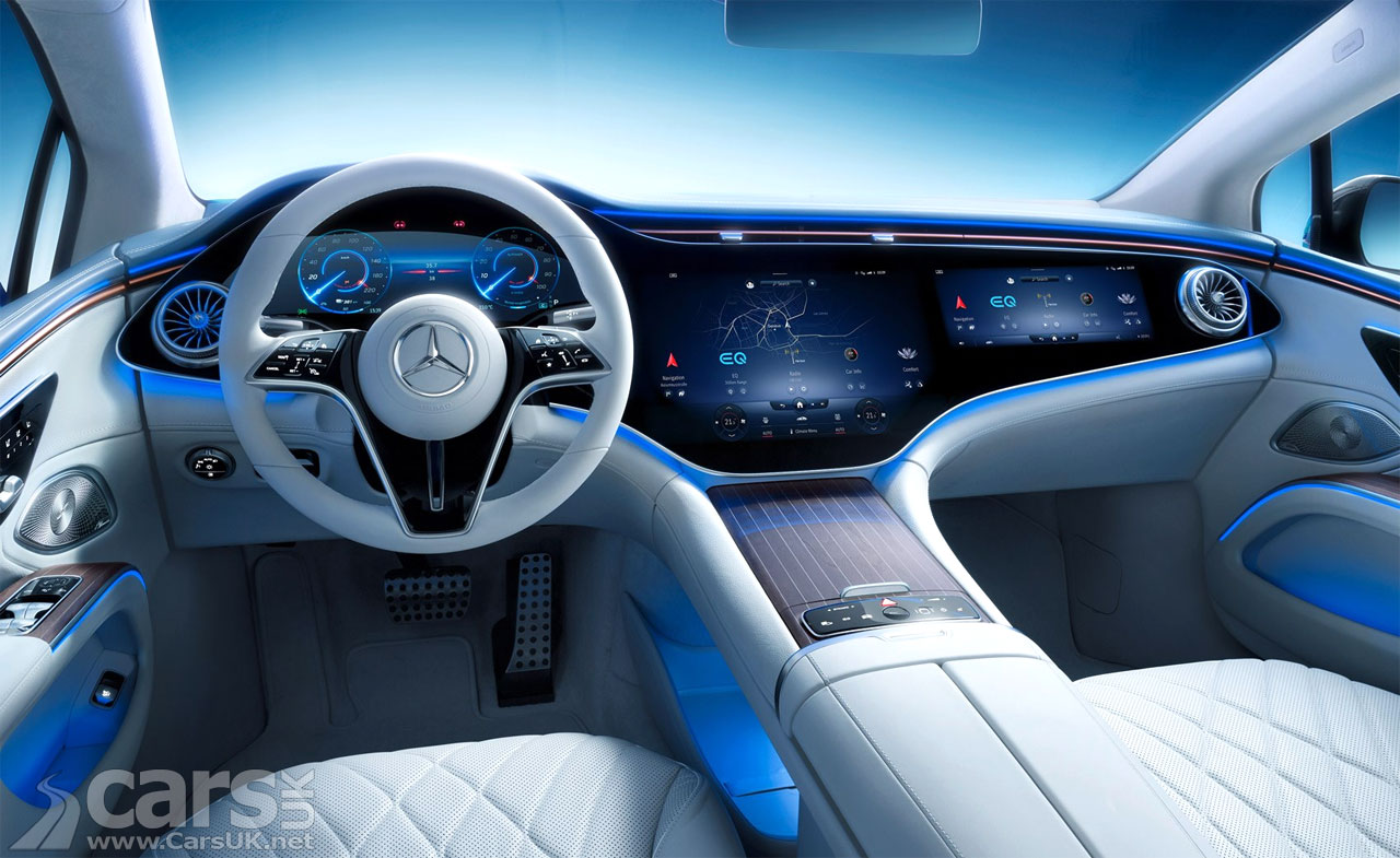 Photo Mercedes EQS EV interior revealed