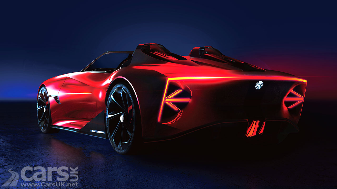 Photo MG Cyberster Electric Sports Car Rear View