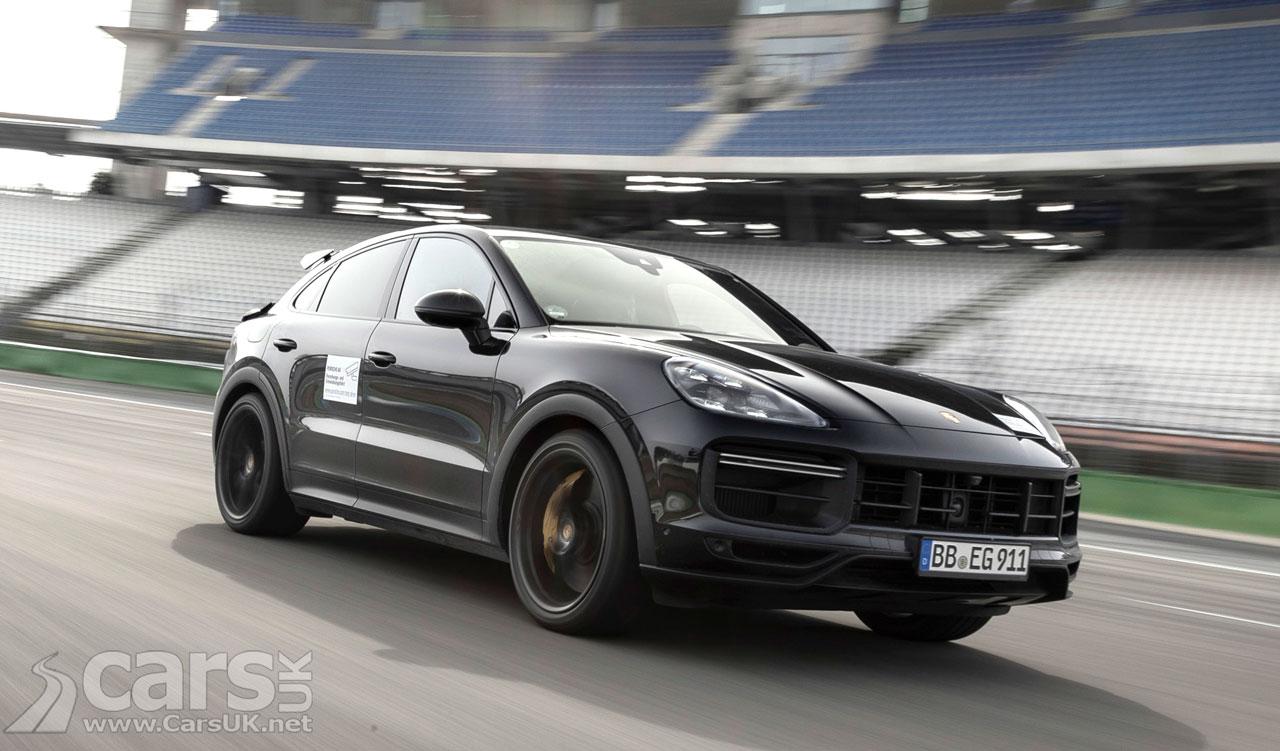Photo New Porsche Cayenne Turbo Coupe Tease