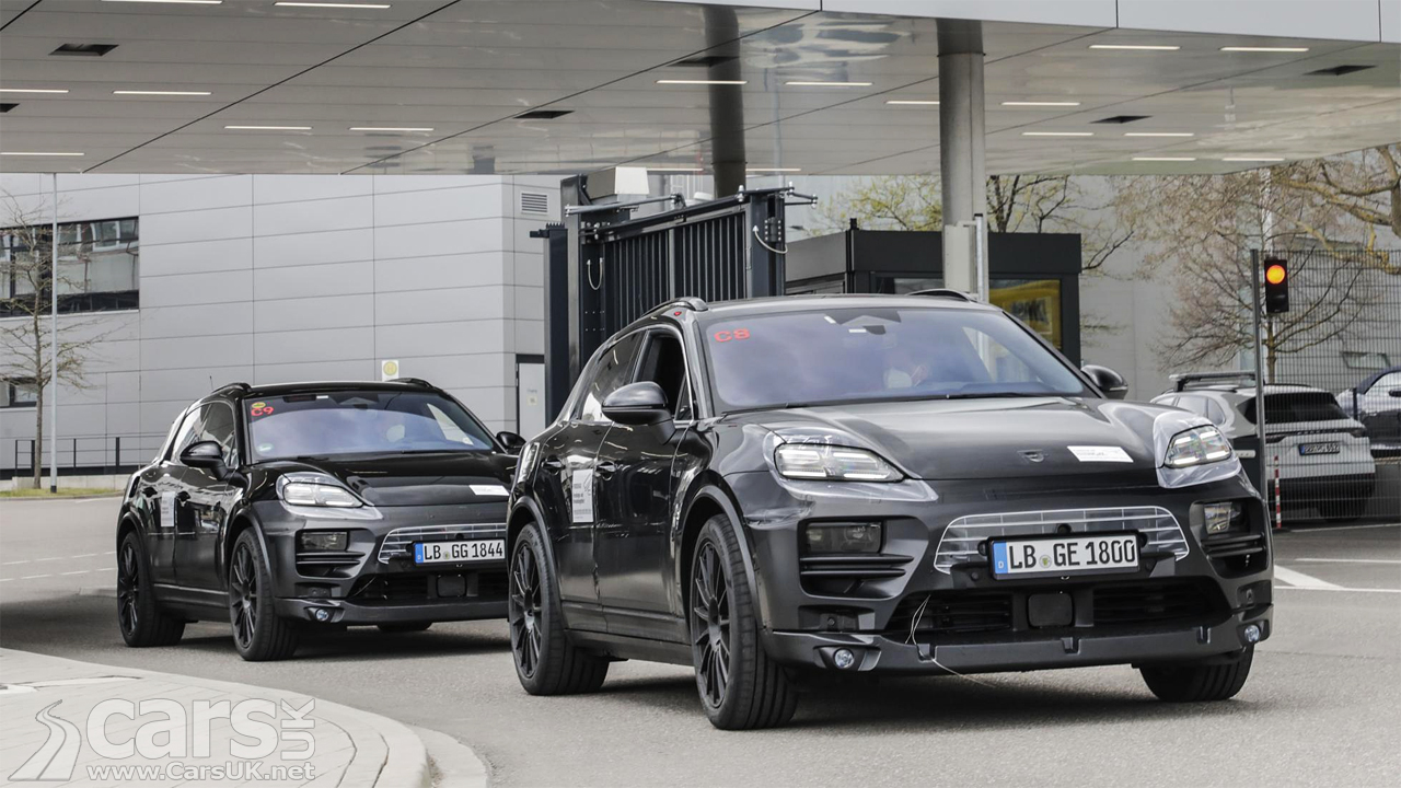 Photo First look at the ELECTRIC Porsche Macan
