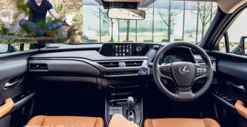 Mindfulness teacher Christoph Spiessens and the soothing interior of a Lexus
