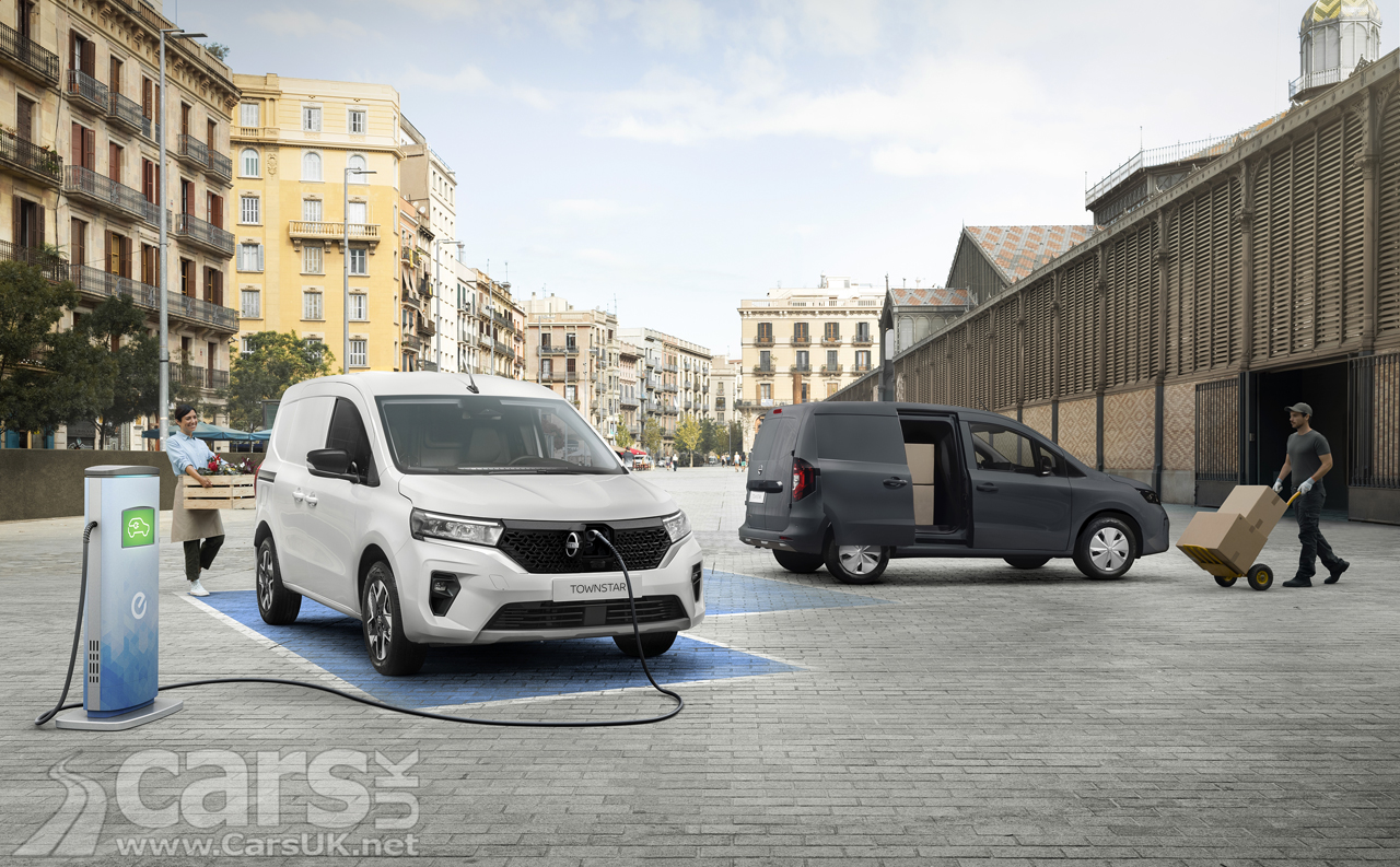 New Nissan Townstar Van with electric motor (left) or petrol engine (right)