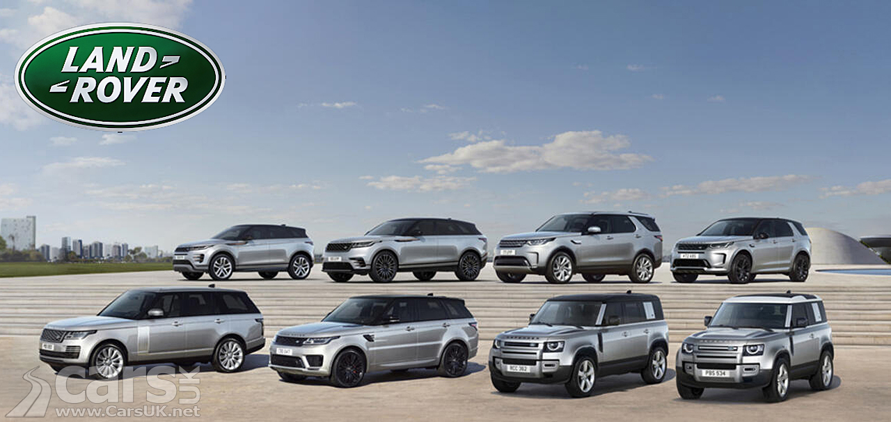 The Land Rover family of cars 2021