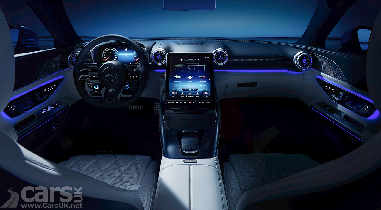 Interior of the new Mercedes-AMG SL, which debuts on 28 October 2021