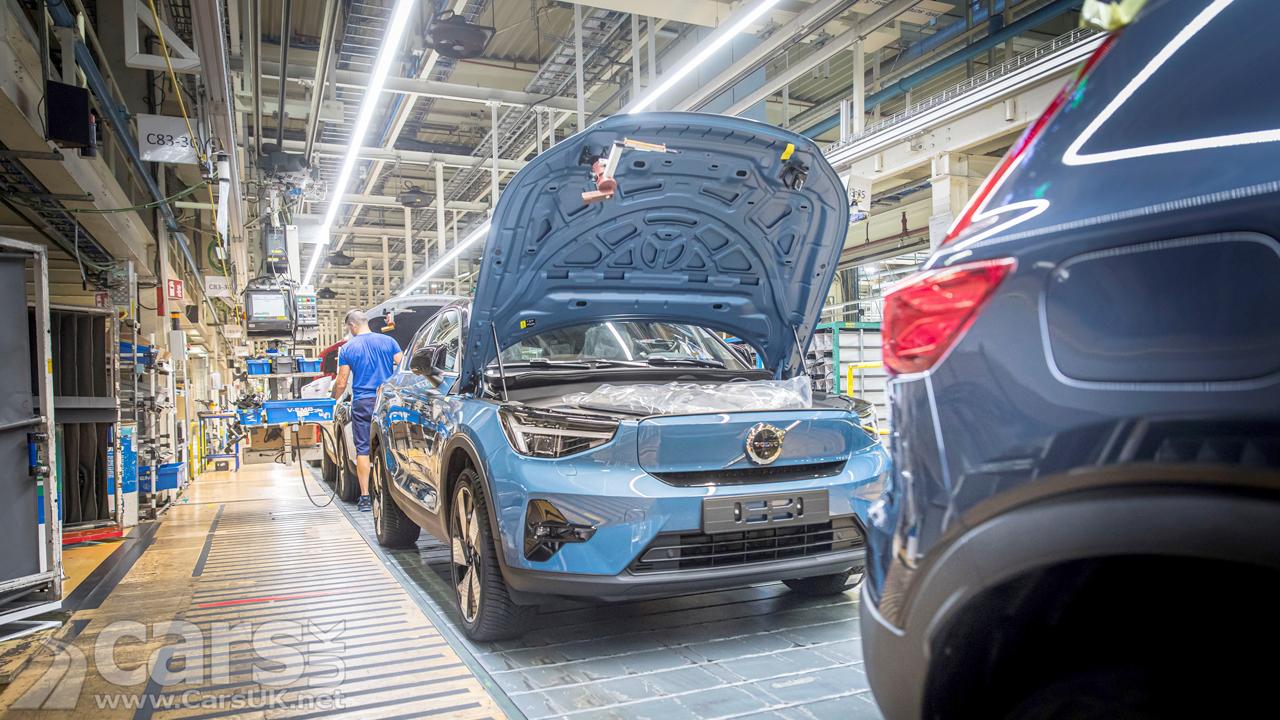 Volvo C40 Recharge production in Gent, Belgium, begins